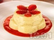 Рецепта Баварски крем - класическа рецепта с брашно, яйца, желатин и сметана